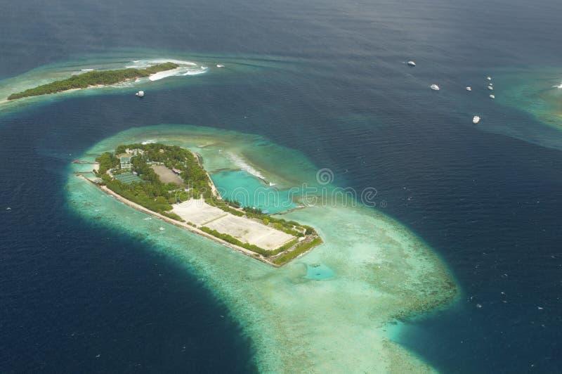 Vue d'Arial de la île de vacances photo libre de droits