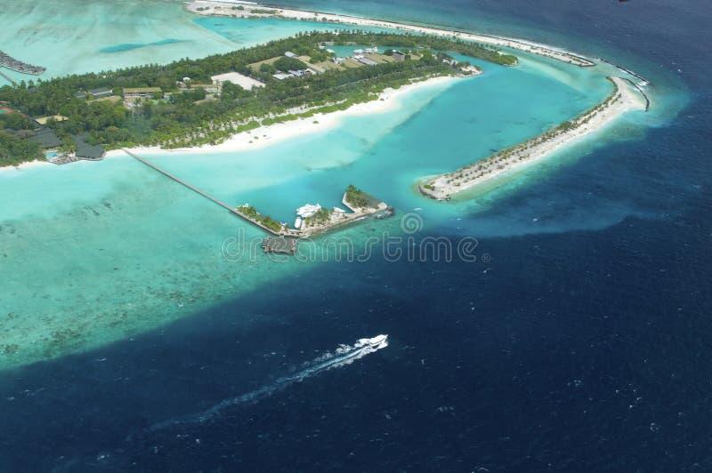 Vue d'Arial de la île de vacances photo stock