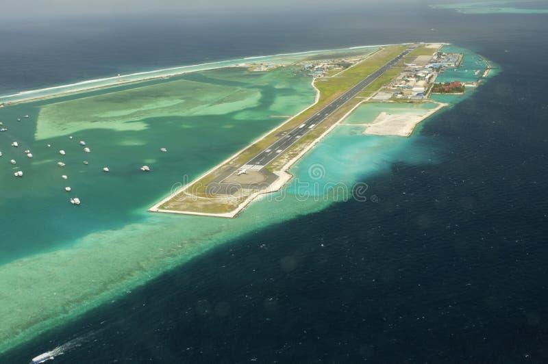 Vue d'Arial de la île de vacances photographie stock