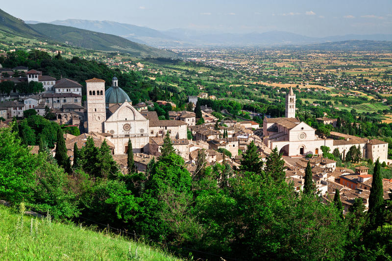 Vue d'Assisi photographie stock