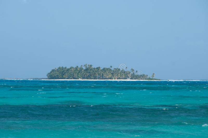 Vue d'atoll de Johnny Cay de San Andres, Colombie photo libre de droits