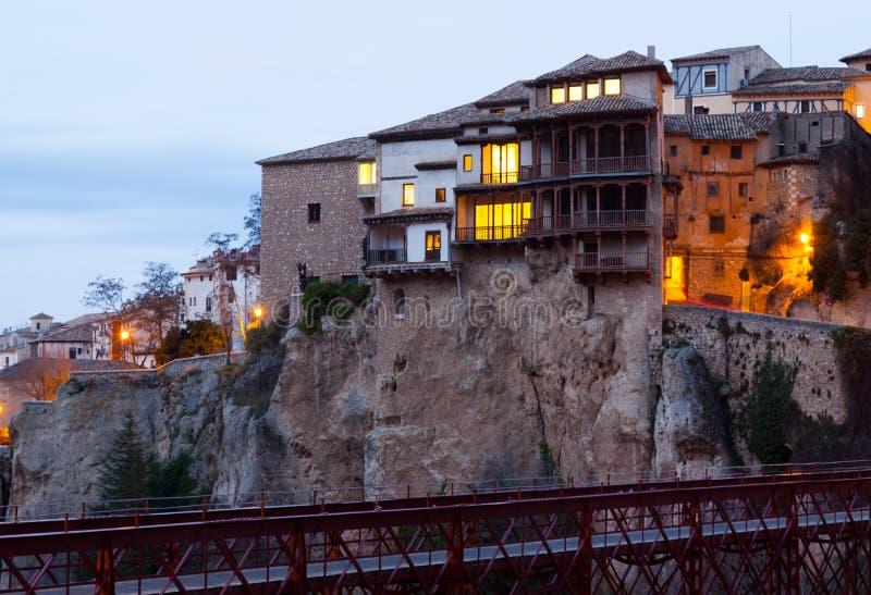 Vue d'aube de Cuenca photographie stock libre de droits