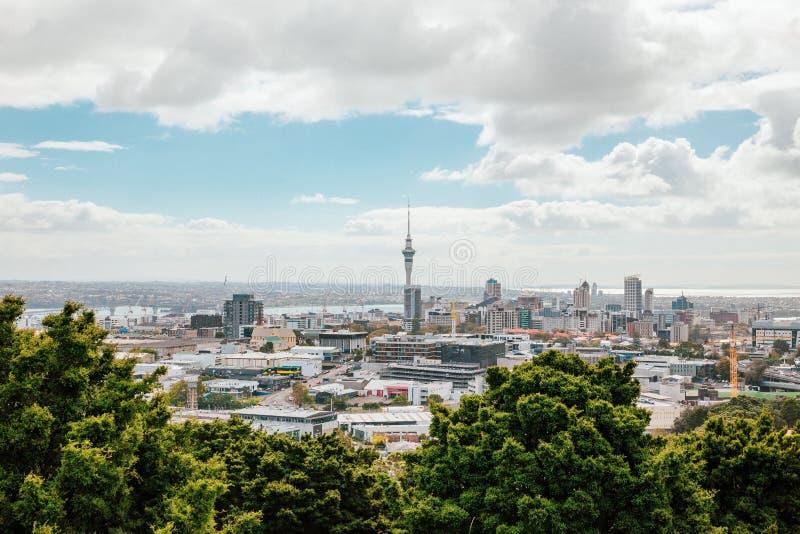 Vue d'Auckland de Mt Éden image libre de droits