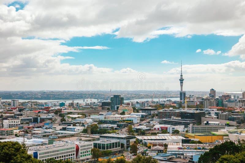 Vue d'Auckland de Mt Éden images libres de droits