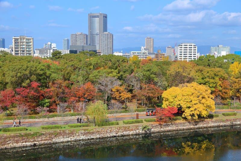 Vue d'automne d'Osaka images stock