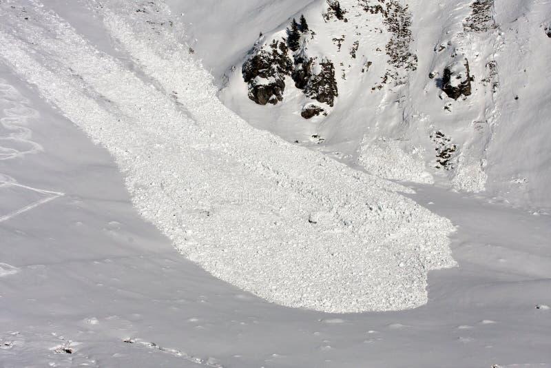 Vue d'avalanche de ci-avant. photos libres de droits