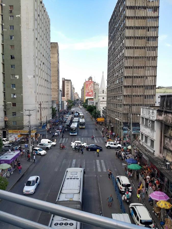 Vue d'avenue de Boa Vista de Conde DA photo stock