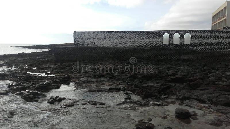Vue d'EL Mirador, Blanca d'hôtel de Playa à Fuerteventura, Canarias photo stock