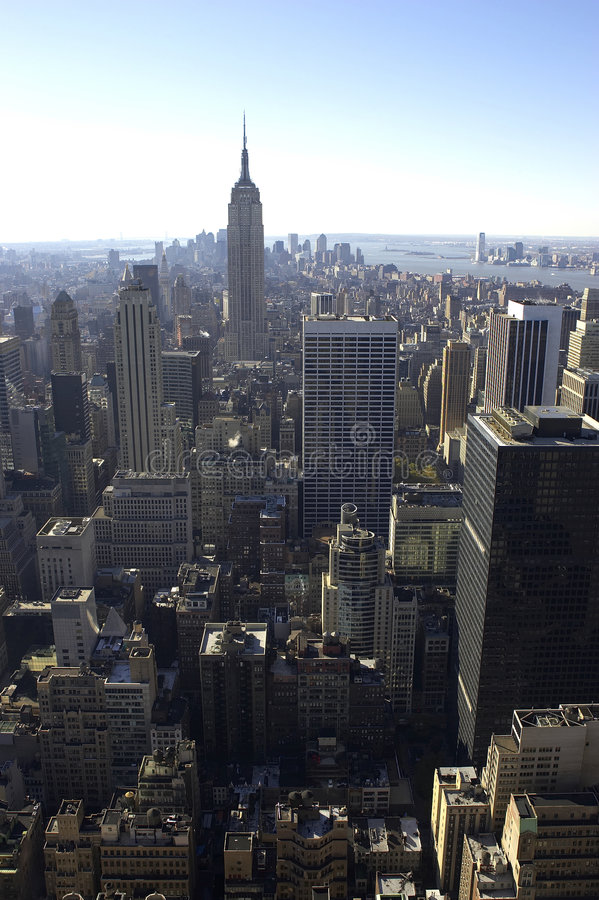 Vue d'Empire State Building image stock