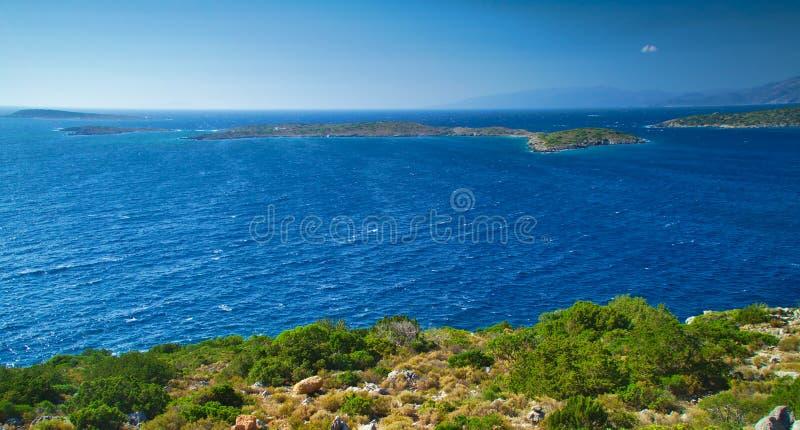 Vue d'en haut à la mer Égée images stock