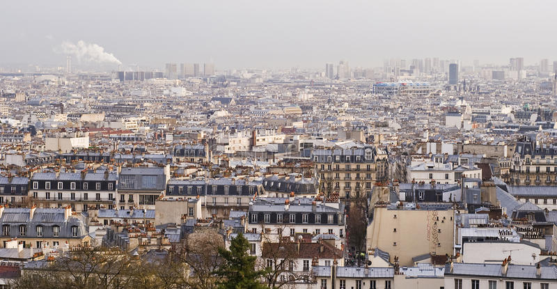 Vue d'ensemble de Paris - panorama photographie stock libre de droits