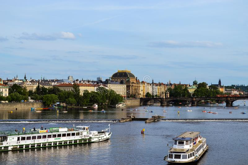 Vue d'ensemble de Prague photos stock