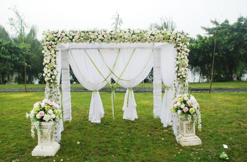 Vue d'ensemble de réception de mariage images libres de droits