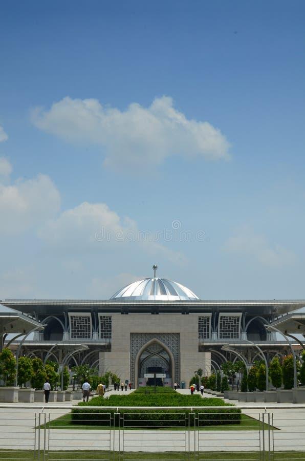 Vue d'entrée de Masjid Sultan Mizan Putrajaya photo stock