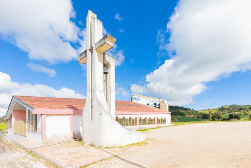 Vue d'extérieur de pont de Boyaca de chapelle de Tunja images stock