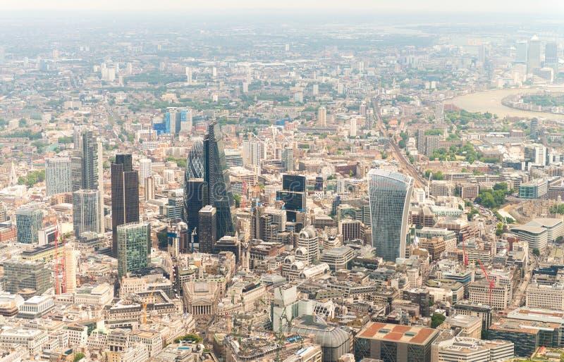 Vue d'hélicoptère de Londres - R-U photos stock