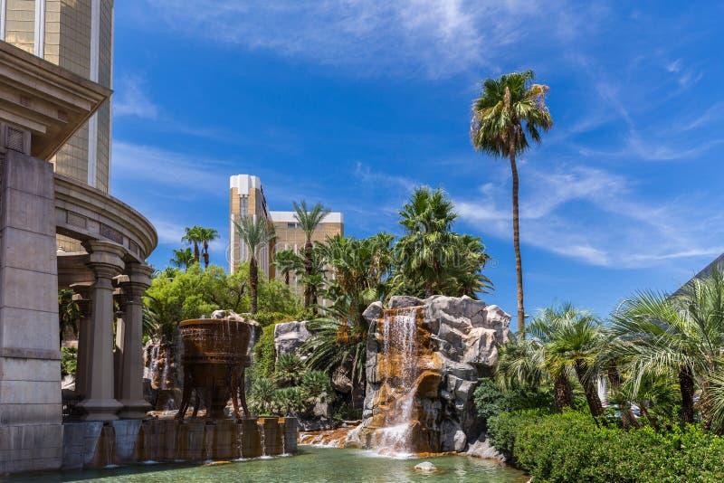 Vue d'hôtel et casino de baie de Mandalay, Las Vegas, Etats-Unis photos stock