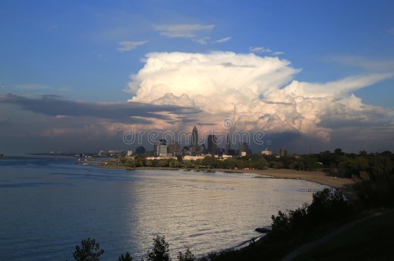 Vue d'horizon de Cleveland image libre de droits