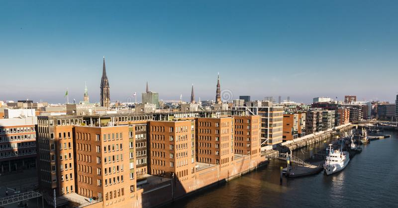 Vue d'horizon de Hambourg en Allemagne photos libres de droits