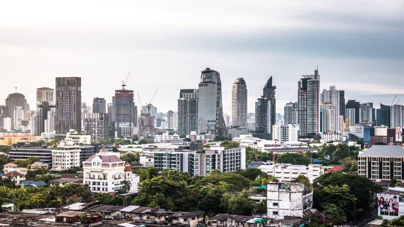 Vue d'horizon de paysage urbain ou de ville de Bangkok, Thaïlande photos libres de droits