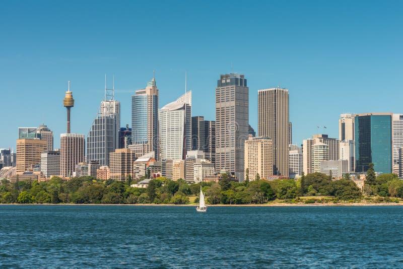 Vue d'horizon de Sydney City CBD - Australie images stock
