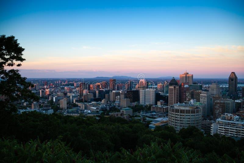 Vue d'horizon sur Montréal image libre de droits