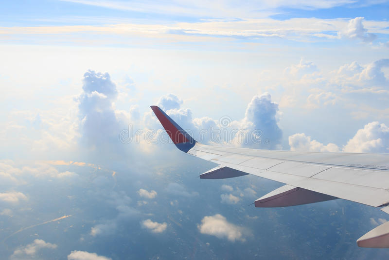 Vue d'hublot d'avion photos libres de droits
