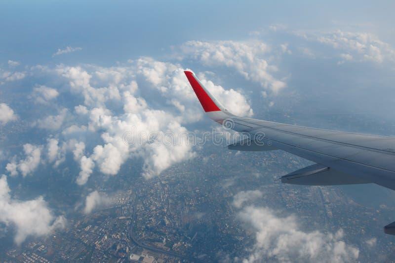 Vue d'hublot d'avion photographie stock libre de droits