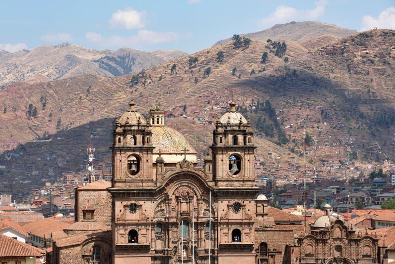 Vue d'Iglesia de la Compania De Jésus dans Cusco image libre de droits