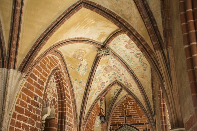 Vue d'image courante gothique de château de Malbork photo stock