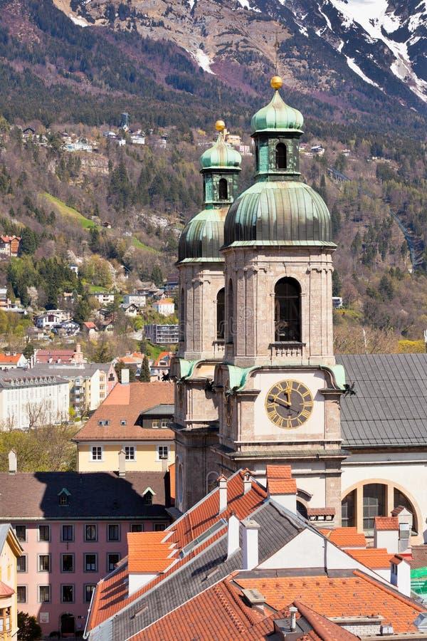 Vue d'Innsbruck, Autriche images libres de droits