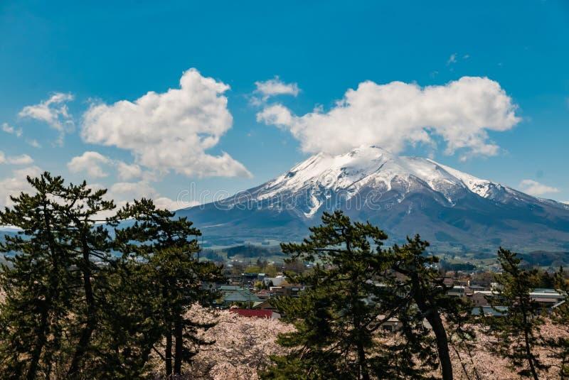 Download Vue D'Iwaki De Bâti De Parc De Château De Hirosaki Image stock - Image du montagne, ville: 76089239