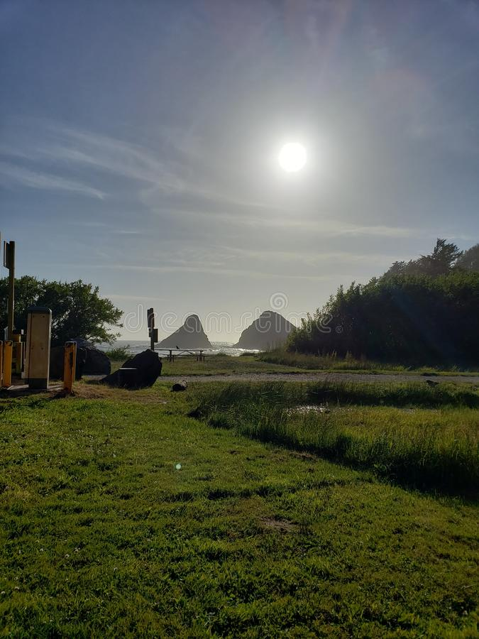 Vue d'océan de côte de l'Orégon image libre de droits