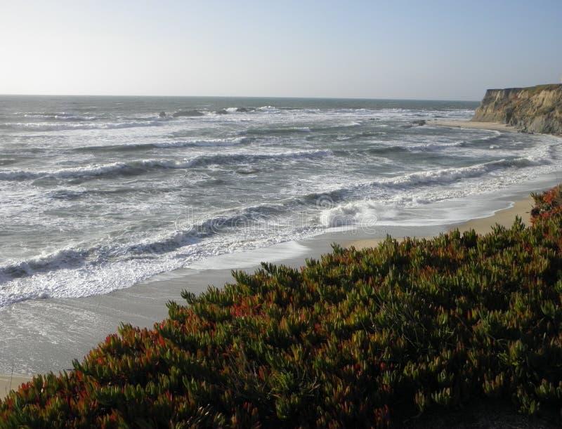 Vue d'océan de Half Moon Bay la Californie photo stock