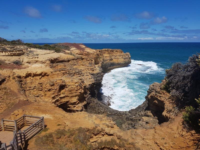 Vue d'océan de plage de voyage de l'Australie photographie stock
