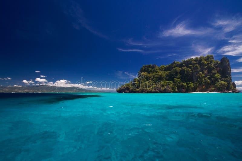 Vue d'océan du paradis d'île photos libres de droits