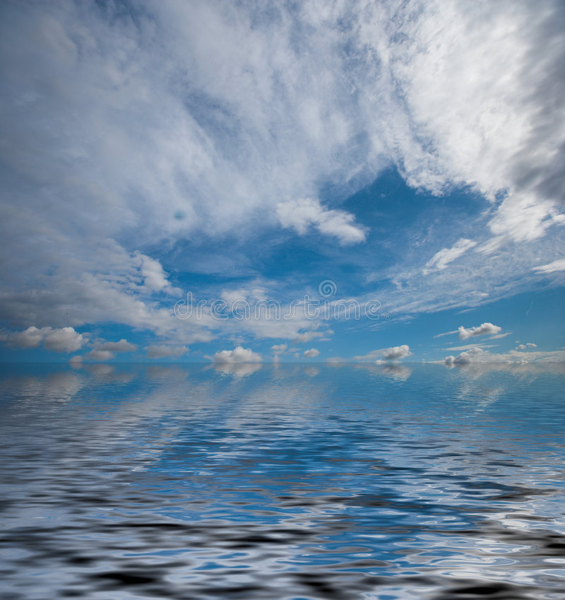Vue d'océan excessive photos stock