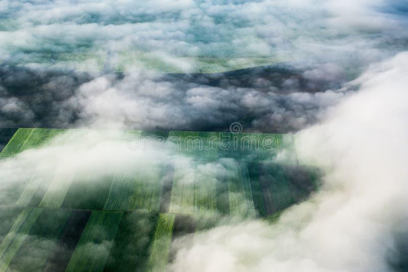 Vue d'oeil d'oiseau de la terre images libres de droits