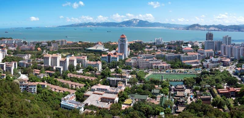 Vue d'oeil d'oiseau de Xiamen, Chine images stock