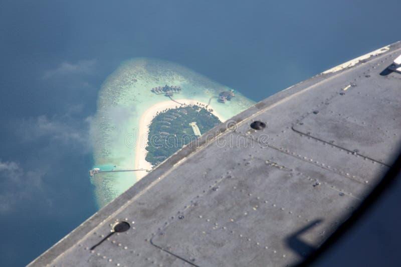 Vue d'oeil d'oiseau des Maldives photo stock