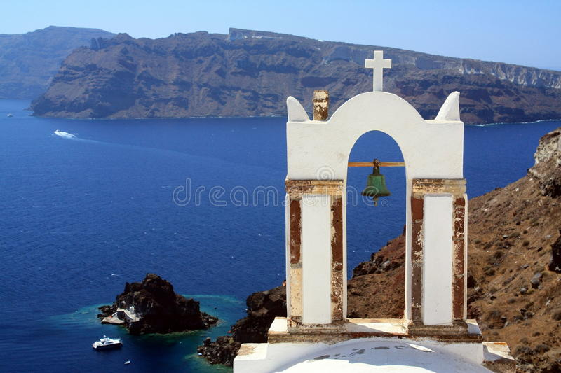 Vue d'Oia, Santorini photo stock