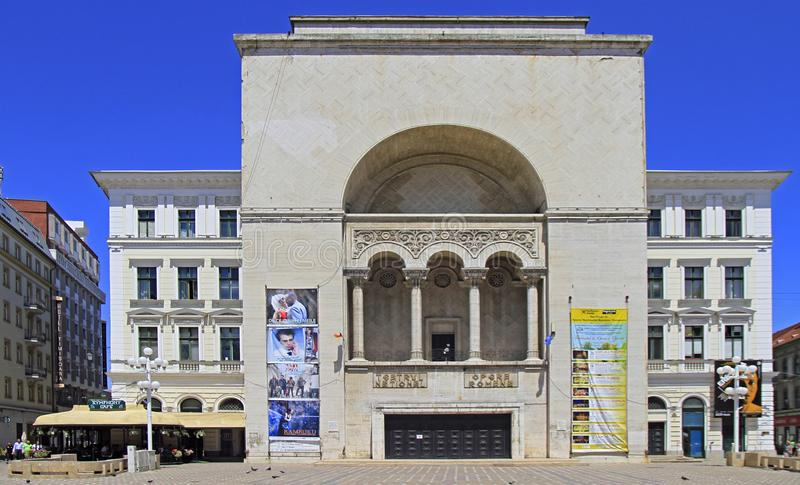 Vue d'opéra national roumain dans Timisoara, Roumanie images libres de droits