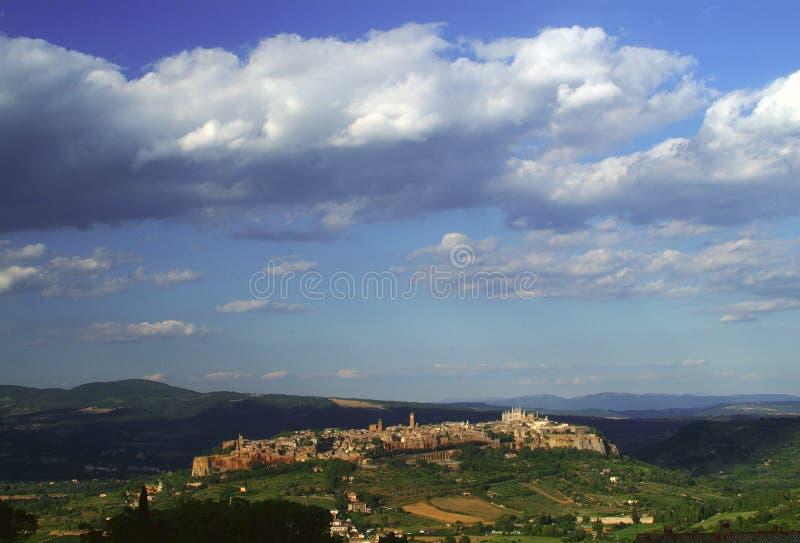 vue d'orvieto de ville images stock