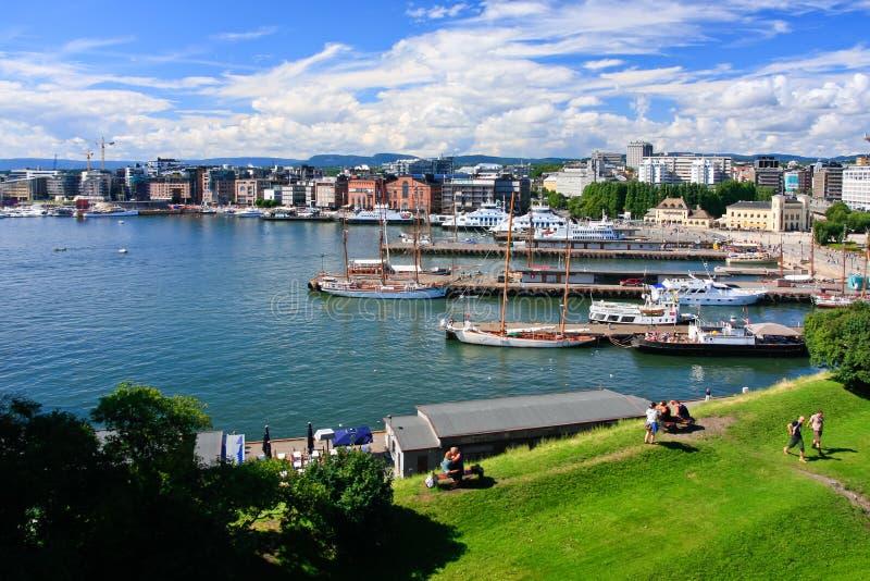 Vue d'Oslo images libres de droits