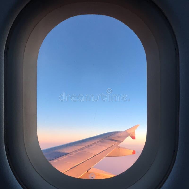 Vue d'un avion image libre de droits