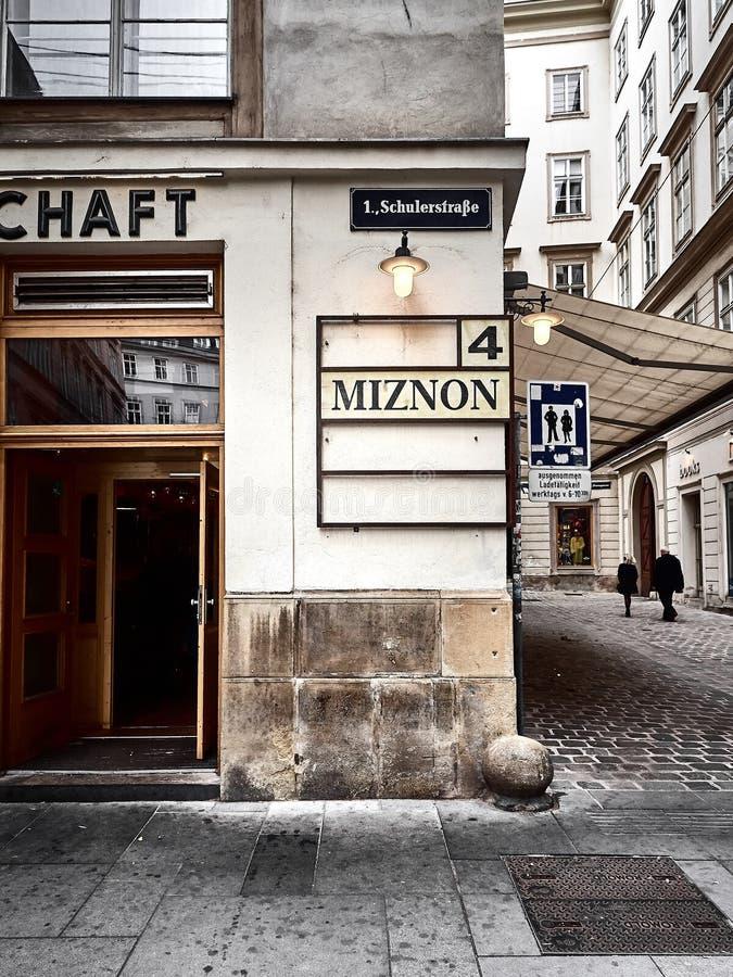 Vue d'un magasin à Vienne image libre de droits