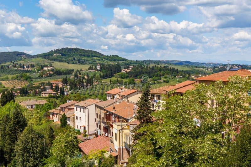 Vue d'un paysage de roulement italien d'une ville photographie stock libre de droits