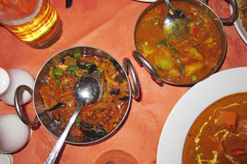 Vue d'un repas indien à Brighton photographie stock libre de droits