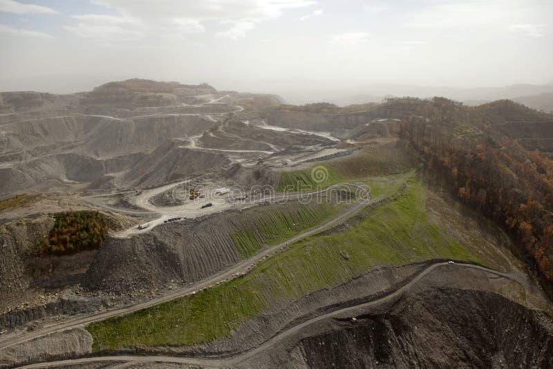 Vue d'une mine de charbon, Appalachia image libre de droits