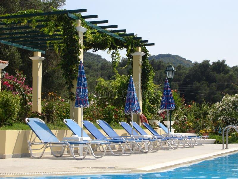 Vue d'une piscine photo libre de droits